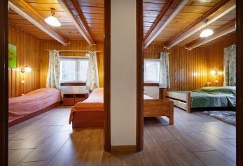 Pokój typu studio dwie sypialnie dla 4-5 osób + łazienką
